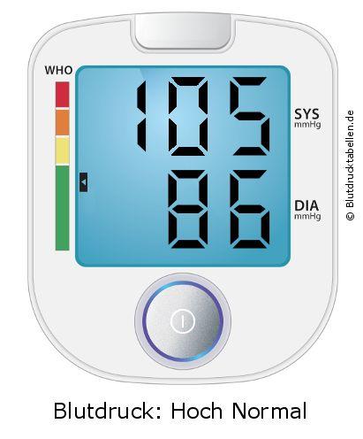 Blutdruck 105 zu 86 - gut oder schlecht..