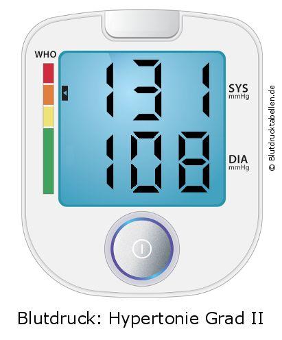Blutdruck 131 zu 108 - gut oder schlecht..