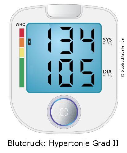 Blutdruck 134 zu 105 - gut oder schlecht..