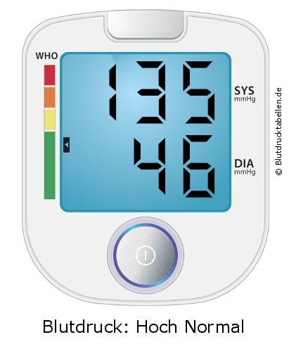 Blutdruck 135 zu 46 - gut oder schlecht..
