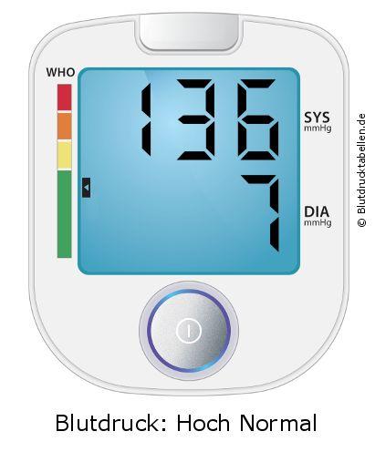 Blutdruck 136 zu 7 - gut oder schlecht? - Blutdrucktabellen.de